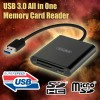 USB 3.0 Super Speed Aluminium All In One Memory Card Reader Support CF Micro SD HC SDXC TF