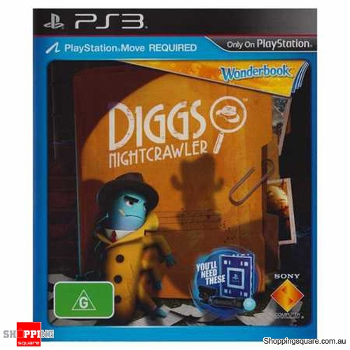 Games For Ps3 Only : Wonderbook diggs nightcrawler game only ps playstation