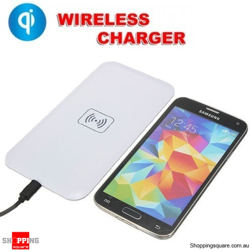 QI Wireless Charger Charging Pad for iPhone Samsung White Colour