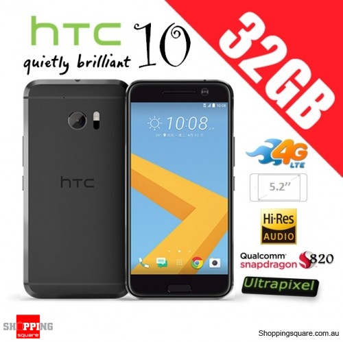 HTC 10 4G LTE 32GB Unlocked Smartphone Black - Factory Refurbished