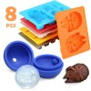 8Pcs Set of Star Wars Silicone Ice Block Mold Mould for Parties Chocolate Jelly Soap Cube