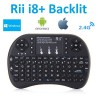 Rii i8+ Backlit LED Multi-Touch Wireless Mini Keyboard Air Mouse 2.4G Touchpad for PC Android TV Box XBOX360 PS3