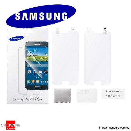 Genuine Samsung Galaxy S5 Screen Protector - 2 pcs Pack