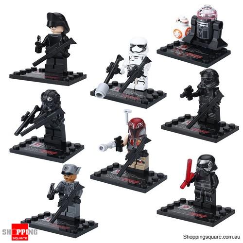 Set of 8 Star Wars The Force Awakens Minifigures Building Blocks ...