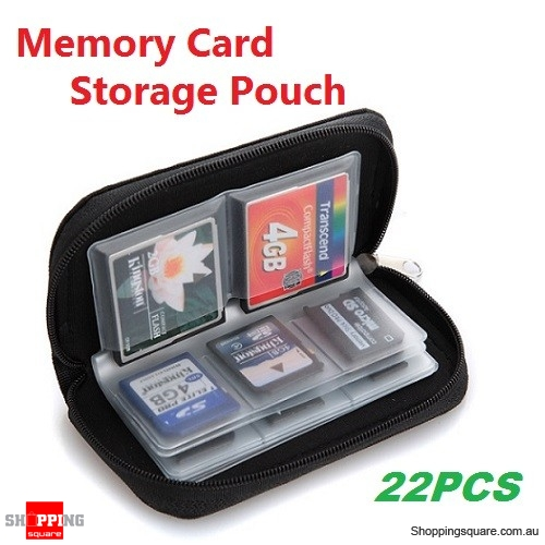 Mini Storage Pouch Case Holder for 22PCS SD CF MMC XD Memory Card