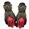 Men's Warm Waterproof Beam Cuff Motorcycle Ski Gloves Red Colour
