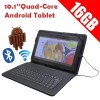 10.1 inch Quad-Core Google Android 4.4 KitKat Tablet PC 16GB Bluetooth WIFI + Keyboard Case