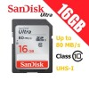 SanDisk Ultra 16GB SDHC UHS-I SD Memory Card Class 10 Up to 80 MB/s