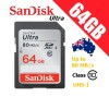 SanDisk Ultra 64GB SDHC SDXC UHS-I Memory Card Class 10 Up to 80 MB/s