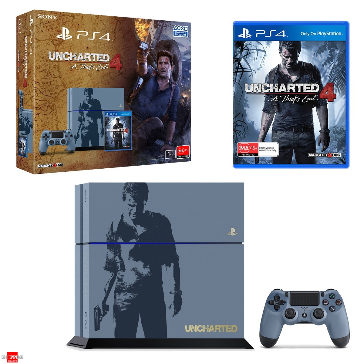 Playstation 4 Ps4 1tb Console Uncharted 4 Limited Edition Bundle