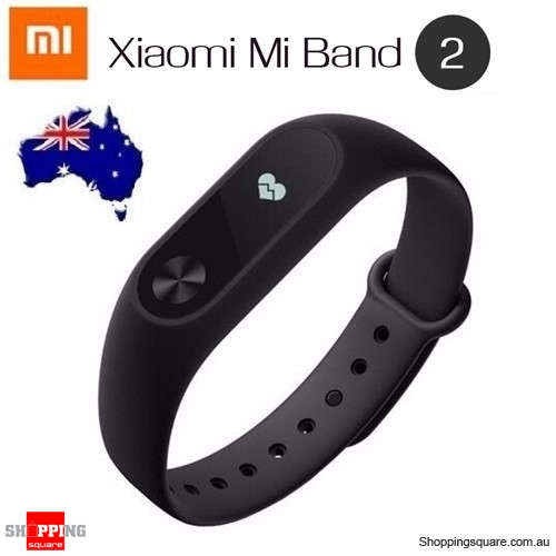 Xiaomi Mi Band 2 Heart Rate Smart Wristband Bracelet Watch with White OLED Black Colour for Fitness 100% Genuine