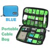 Portable Travel Organiser Bag for Cable Electronic Accessories USB Drive Hard Disk Blue Colour