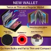 Amazing Slim PU Leather Wallet Stores Up to 24 Cards Black Colour