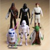 Set of 6 Star Wars 15CM Figures Luke Skywalker Darth Vader Chewbecca Stormtrooper R2-D2 Yoda