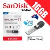 SanDisk iXpand 16GB USB 3.0 Lightning Connector OTG Flash Drive for iPhone iPad