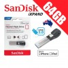 SanDisk iXpand 64GB USB 3.0 Lightning Connector OTG Flash Drive for iPhone iPad