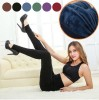 Ladies' Winter Fleece Lined Thick Warm Thermal Stretchy Slim Pants Leggings Navy Colour