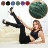 Ladies' Winter Fleece Lined Thick Warm Thermal Stretchy Slim Pants Leggings Green Colour