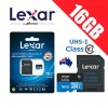 Lexar 633x 16GB High Performance microSDHC microSDXC UHS-I 95MB/s with Card Reader