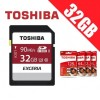 Toshiba Exceria 32GB SDHC SDXC Memory Card UHS-I U3 4K FHD Up to 90MB/s