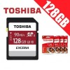 Toshiba Exceria 128GB SDHC SDXC Memory Card UHS-I U3 4K FHD Up to 90MB/s