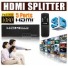 5 Ports 1080P Full HD HDMI Selector Splitter Switch for PS3 HDTV 3D with Remote