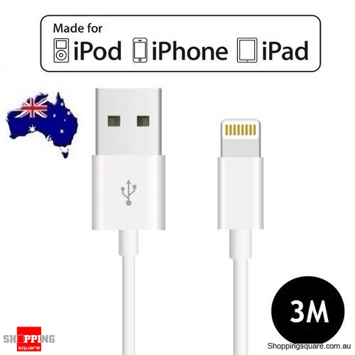 [Apple MFi Certified] 3M Lightning to USB Sync Charging Cable for iPhone X 8 7 SE iPad Air Mini