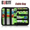 BUBM Universal Electronics Accessories Cable Bag Holder Organizer for Travel Black Colour
