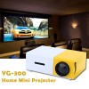 YG-300 LCD Projector Home Theater Movies Games Media Player, Supports Video up to 1920 x 1080P FHD via interpolation
