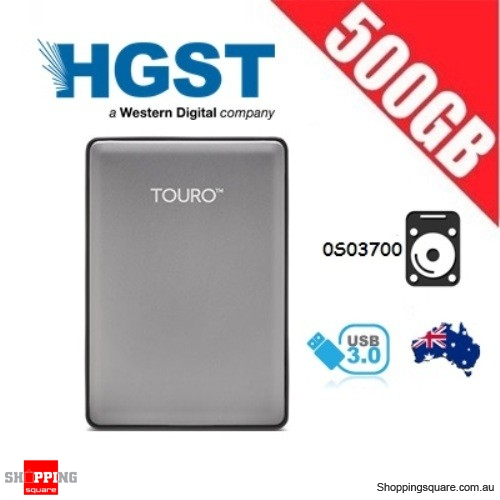 Hitachi 500GB Touro S Portable HDD Gray 2.5 inch 7200rpm HDD USB 3.0 (0S03700)