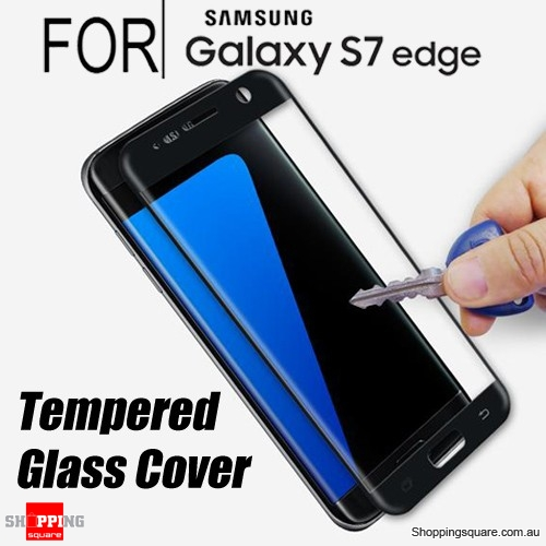 Full Curved 3D HD Tempered Glass Screen Protector For Samsung Galaxy S7 Edge Black Colour