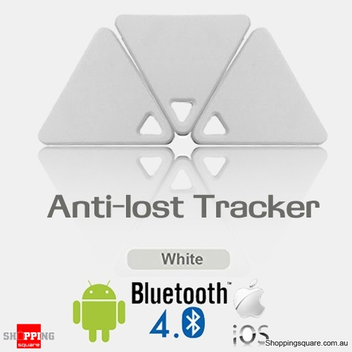 Multifunctional Anti-Lost Bluetooth Smart GPS Tracker Tag Locator Finder Alarm for Child Pet Bag Wallet Key White Colour