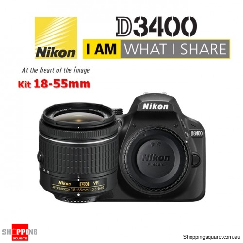 Nikon D3400 Kit 18-55 VR AF-P Lens DSLR Digital Camera Black