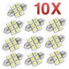 10pcs 12V LED 5050 6SMD 31mm Festoon Car Interior Auto Light Bulb White Dome Globe