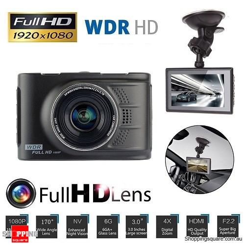 3 inch Full HD 1080P Car Vehicle Video Recorder DVR Dash Camera CCTV with G-sensor