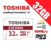 Toshiba Exceria 32GB microSD microSDHC Memory Card with Adapter 90MB/s