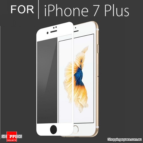 sports shoes 7d7c2 bc15b Full Cover Tempered Glass Film Screen Protector For Apple iPhone 7 Plus  White Colour - Shoppingsquare Australia