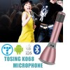 Genuine Tosing K068 Wireless Bluetooth Karaoke KTV Effects Mic Microphone Speaker for iPhone Android Pink Colour