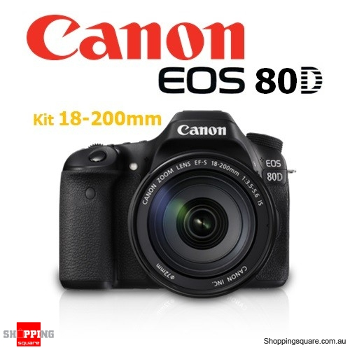 Canon EOS 80D Kit EF-S 18-200MM IS f/3.5-5.6 DSLR Digital Camera