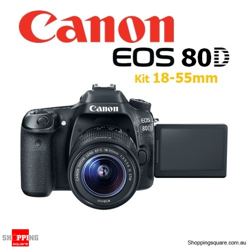 Canon EOS 80D Kit EF-S 18-55MM f/3.5-5.6 IS STM DSLR Digital Camera