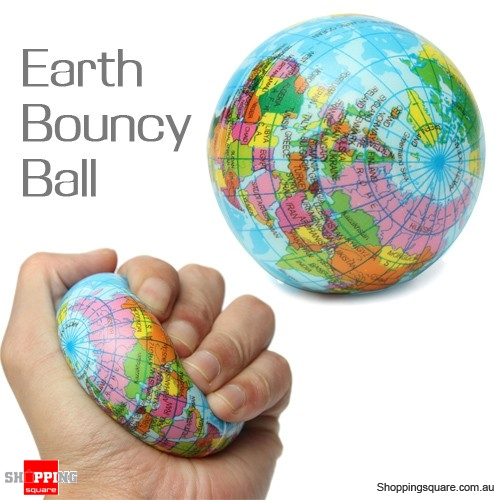 Earth globe planet foam stress relief bouncy press ball with world earth globe planet foam stress relief bouncy press ball with world map geography atlas gumiabroncs