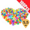 100Pcs 5.5cm Children Colorful Plastic Ocean Ball for Swimming Pool Soft Pit Toy with Mesh Bag