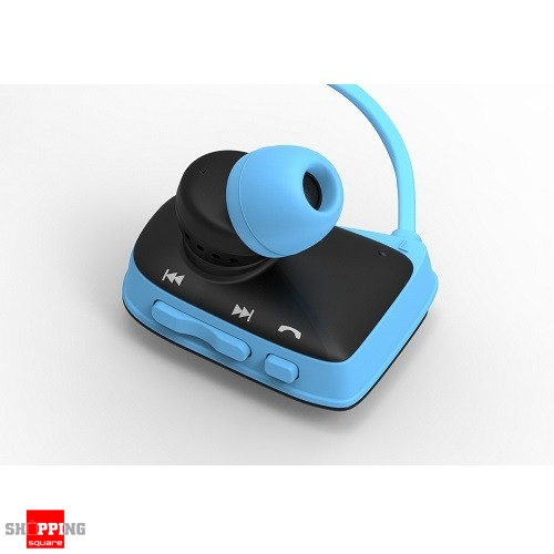 waterproof bluetooth wireless swimming sports headsets stereo headphone earphone blue colour. Black Bedroom Furniture Sets. Home Design Ideas