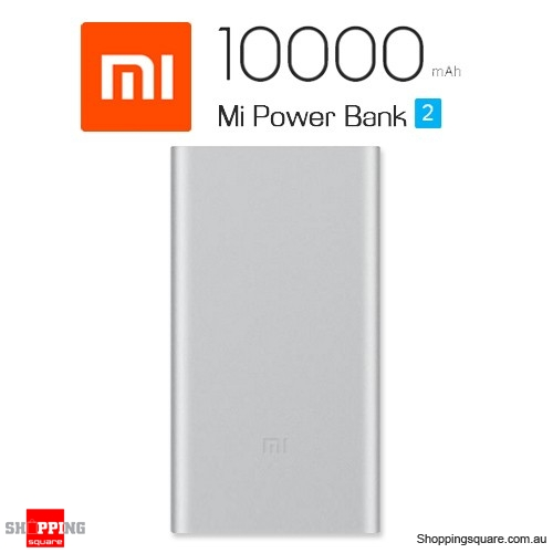 Genuine Xiaomi Mi Power Bank 2 10000mAh Quick Charge 2.0 Portable Charger for iPhone Android Silver Colour