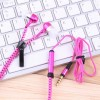 3.5mm Stereo In-ear Stylish Zipper Earphone Headset Earbuds Headphone with Mic Rose Red Colour