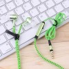 3.5mm Stereo In-ear Stylish Zipper Earphone Headset Earbuds Headphone with Mic Green Colour