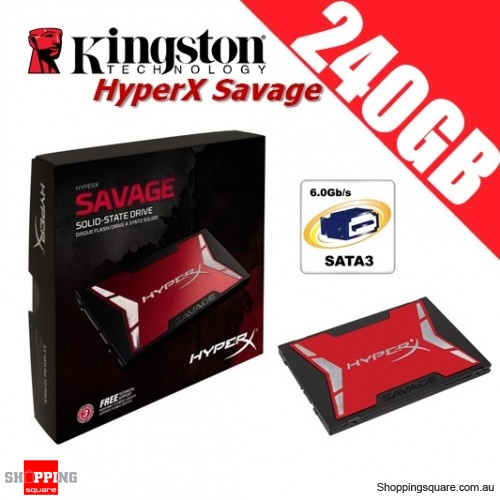 Kingston HyperX Savage 240GB Solid State Drive 2.5 inch SATA 3 Up to 560MB/s