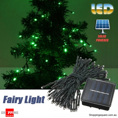 60 LED 8M Solar Powered String Fairy Light Decor for Xmas Party Wedding Garden Green Colour