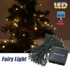 60 LED 8M Solar Powered String Fairy Light Decor for Xmas Party Wedding Garden Warm White Colour