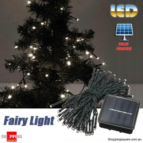 60 LED 8M Solar Powered String Fairy Light Decor for Xmas Party Wedding Garden White Colour